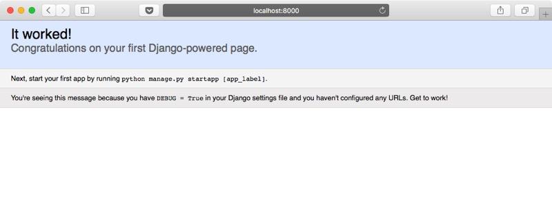 Aplicación web Django funcionando
