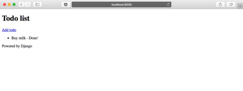 Aplicación web Django tarea completada