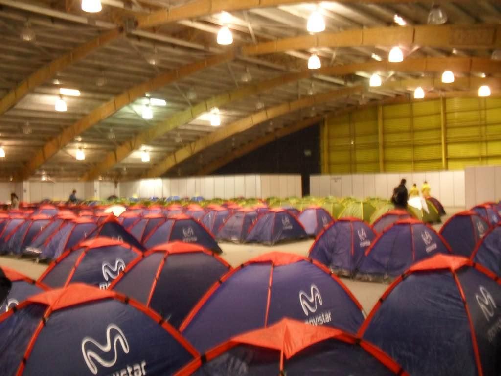 Interior zona de acampada