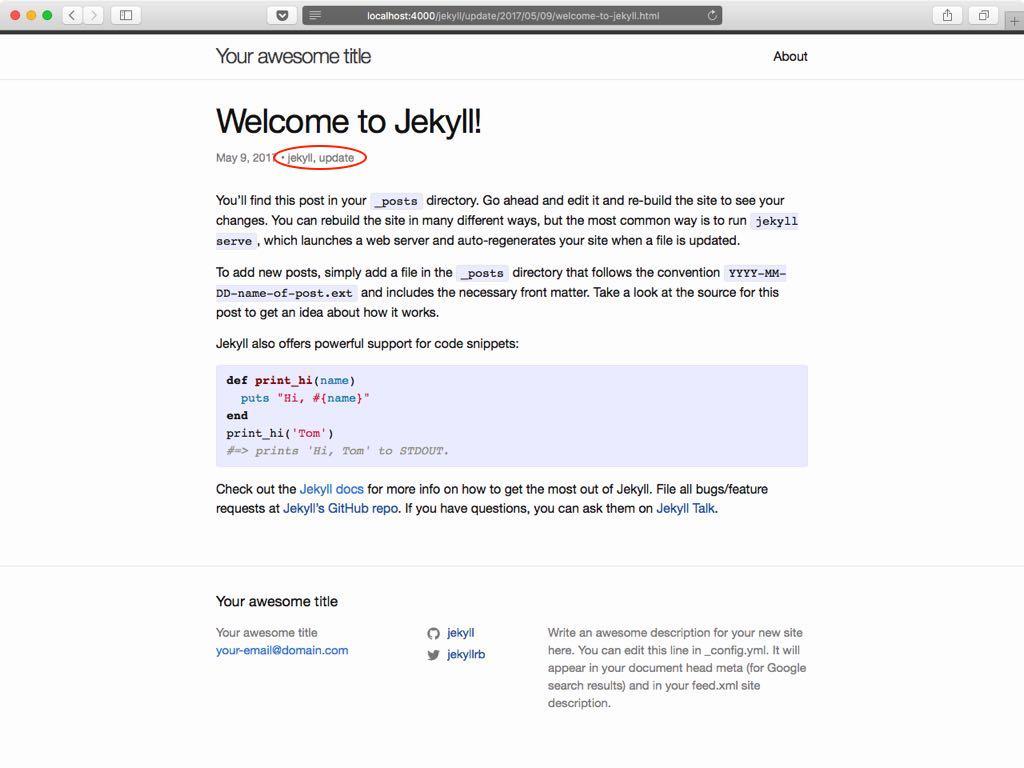 Sitio web Jekyll